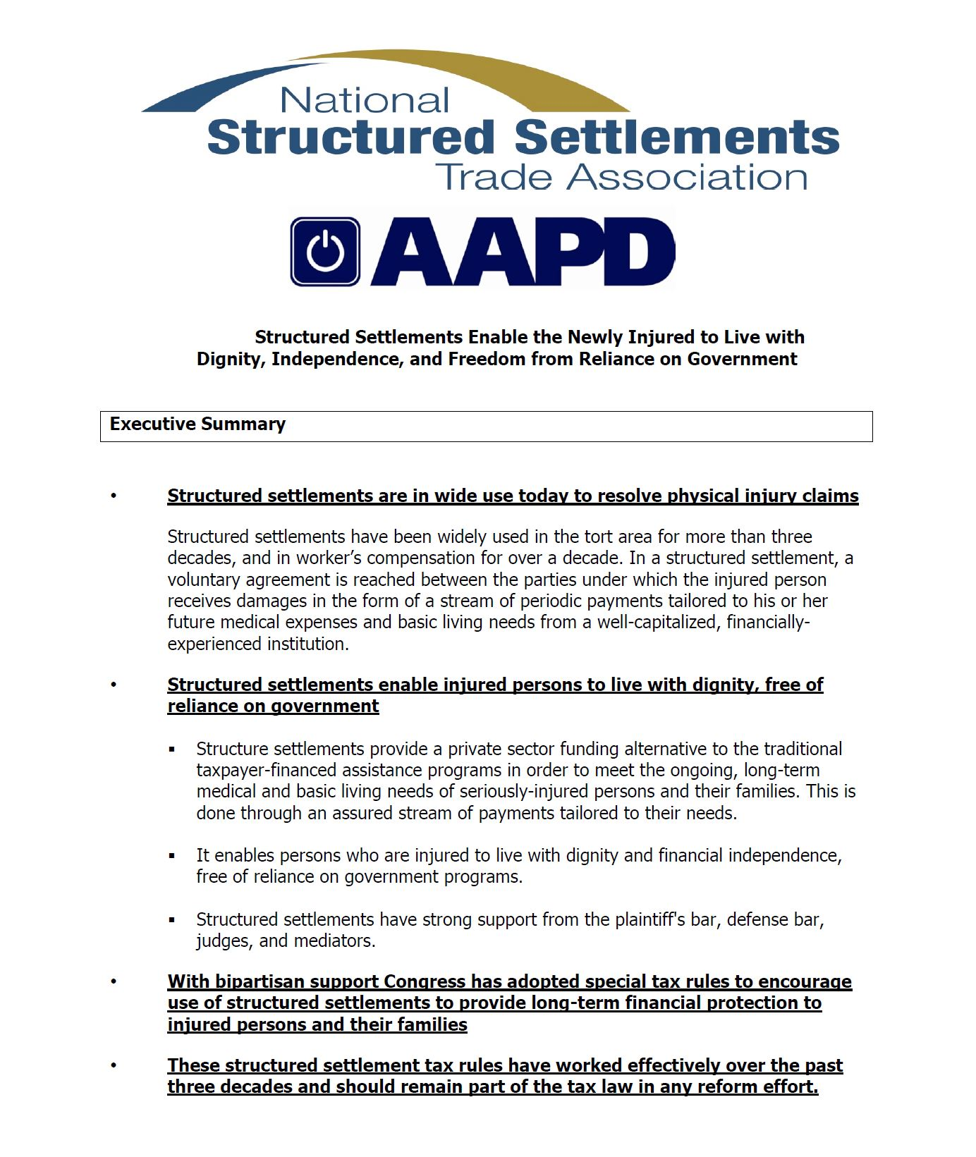 AAPD NSSTA Policy Statement
