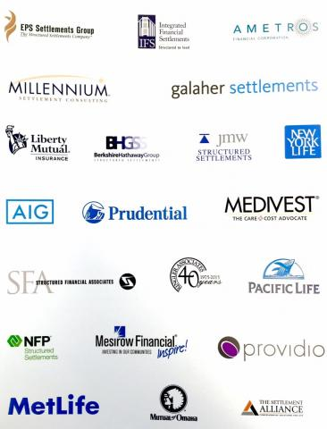 structured settlement industry companies that participated in the 2016 AAPD Gala